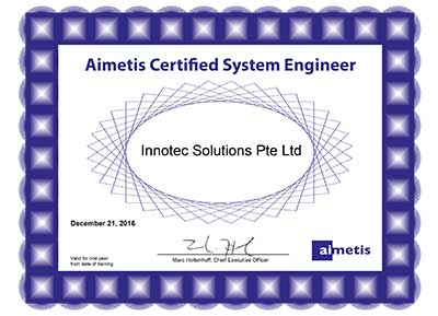 innotec solutions is aimetis certified partner