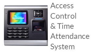 cctv security surveillance camera system access control entry point security time attendance