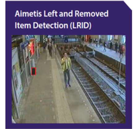 cctv security surveillance camera system security solutions supplier brand aimetis singapore left removed item detection system