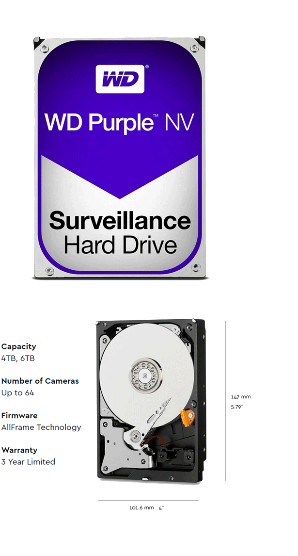WD Surveillance Hard Disks Allframe technology firmware 4tb 6tb