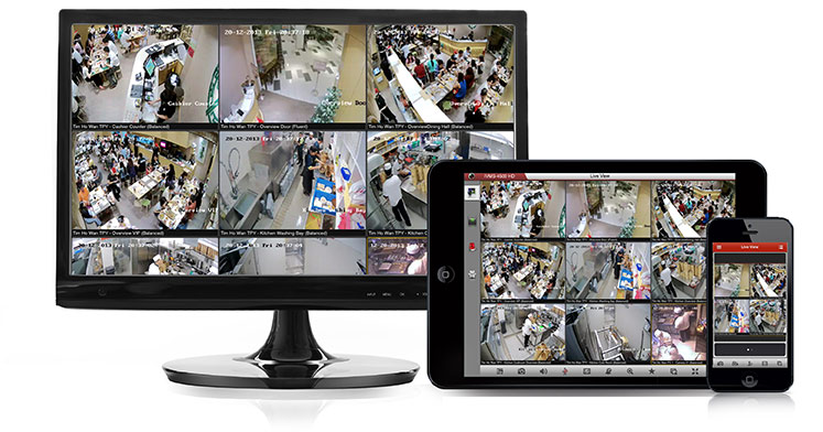 cctv surveillance system security camera remote viewing monitoring phone tablet solution for business