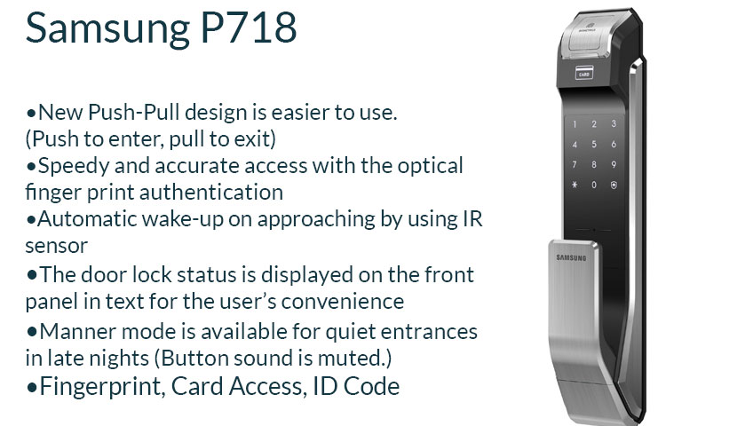 digital  door  lock  samsung  p718  security  solution  residential  home  hdb  condo  landed  singapore