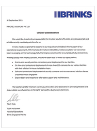 innotec solutions commendation client brinks