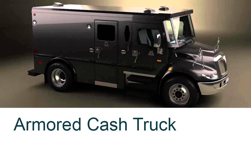 vehicle surveillance camera security systems business buildings in singapore client armored cash truck
